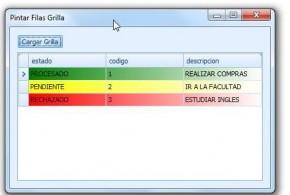 FILAS 4 - Pintar filas de una grilla (GridControl) usando C# 2005 y DevExpress
