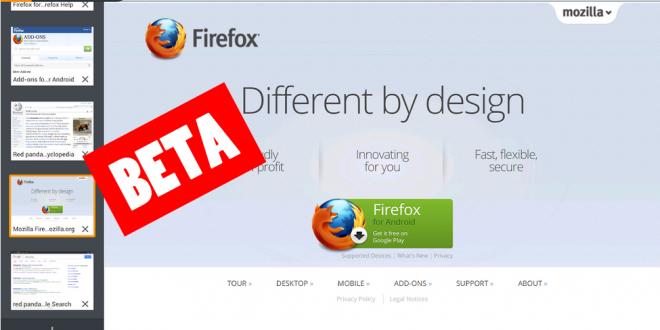 Firefox Beta - Firefox se renueva con su reciente lanzamiento para Android