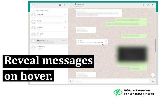 whatsapp web privacy 1 - WhatsApp Web, oculta tus mensajes